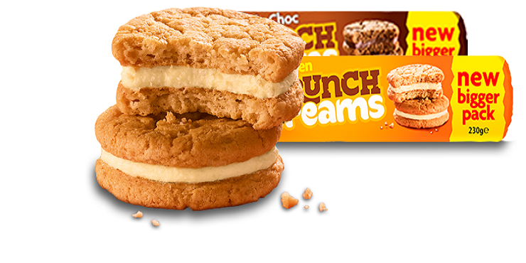 Crunch Creams Perfect Crunch With The Creamiest Filling