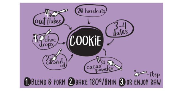 DIY homemade recipe for Chocolate and hazelnut Rookies cookie