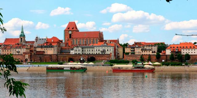 A View of Toruń's Old City Core