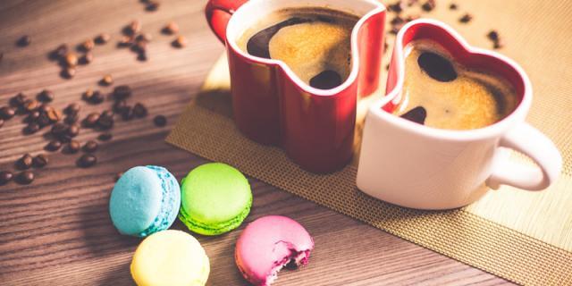Macarons with Coffee