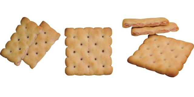 Three layer crackers