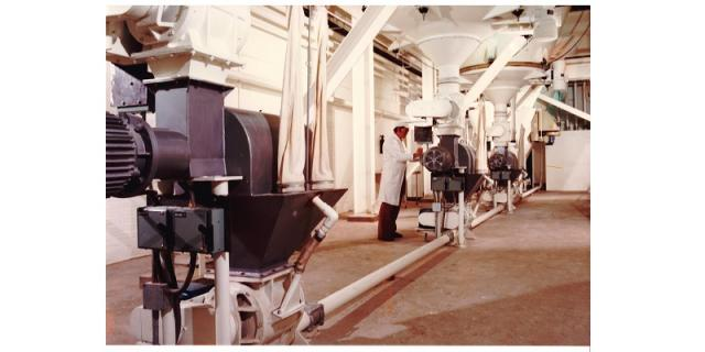 Pneumatic conveying of flour to the mixers