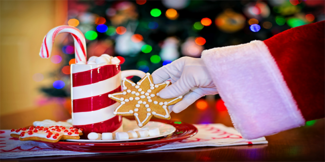Santa Christmas biscuit