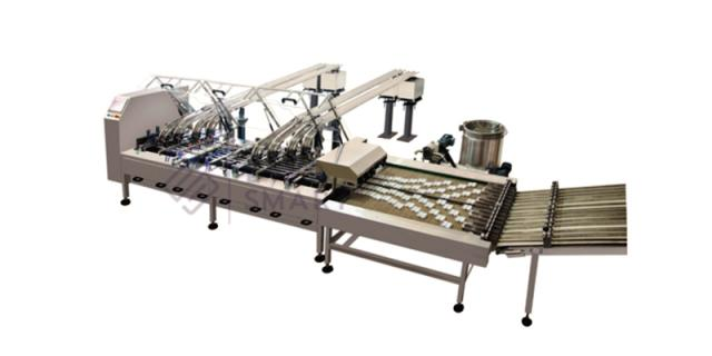 FIG 7  Four lane sandwiching machine with lane multiplier from EverSmart Food Equipment, China