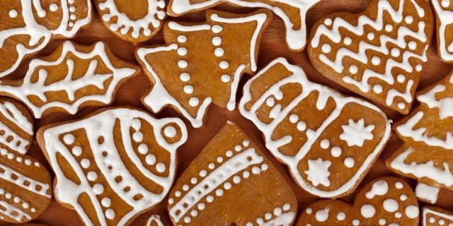 Pepparkakor or Swedish gingerbread cookies