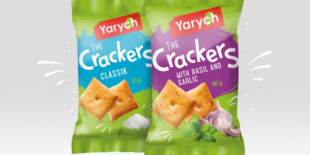 New crackers with two flavours appeared in the Ukrainian supermarkets