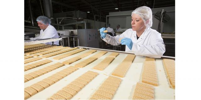 walkers shortbread production line