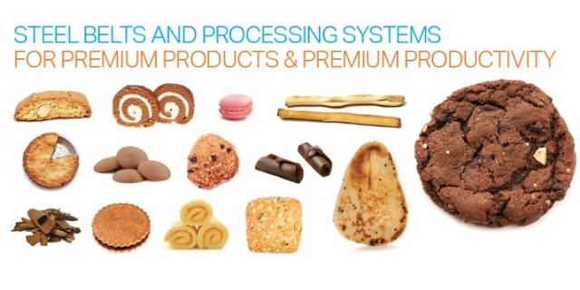 Steel belts and processing systems for the  bakery and confectionery industries