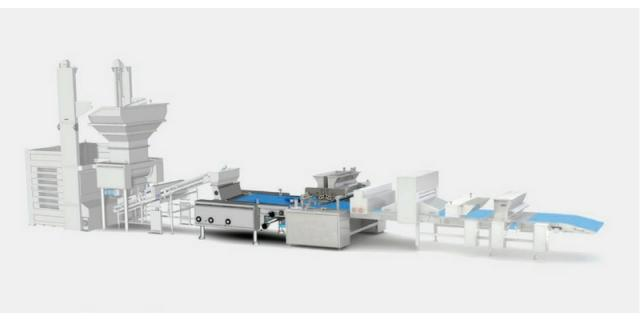Integrated system comprising a GEA Imaforni rotary molder for soft biscuits combined with a GEA Comas co-extruder machine for cookies