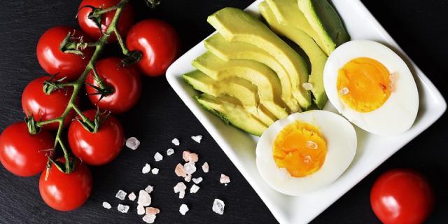 Healty food and keto diet
