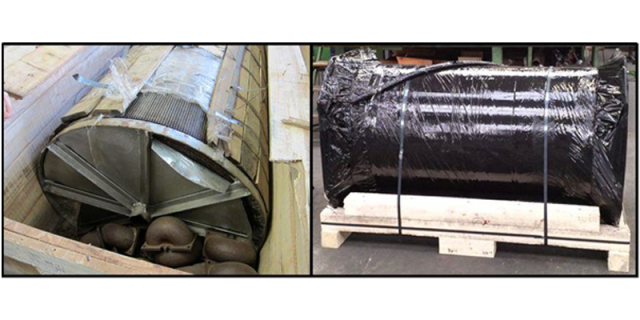 """Examples of an at least """"questionable"""" (left) and proper (right) protective belt packing"""