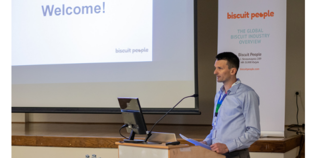 Marijo Lijić, founder and CEO of biscuit people, opening the 1st Biscuit People Conference