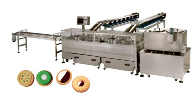 FIG 8 EverSmart 2 colour sandwiching machine. High speed sandwiching system for a variety of biscuit shapes and sizes
