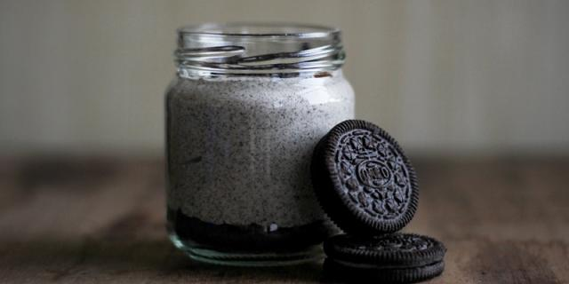 Brekfast in jar and Oreo