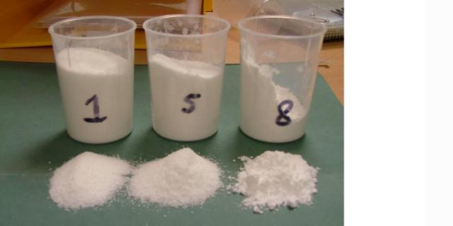 Bulk granulated sugar after being transported to varius storage silos