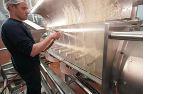 Sanitary design of the continuous mixer