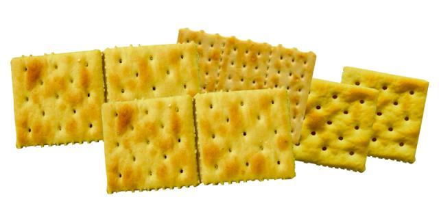 Crackers baking