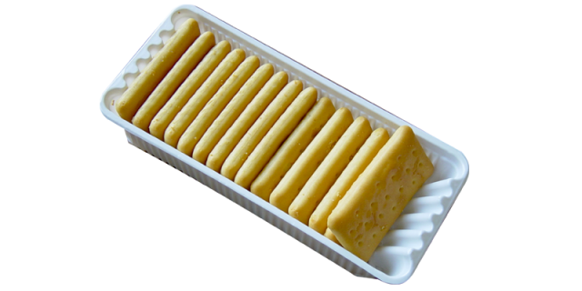 Packaging tray for 3 layer crackers