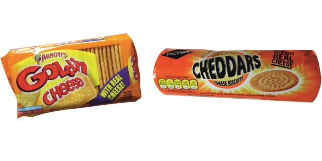 Cheese cracker packaging
