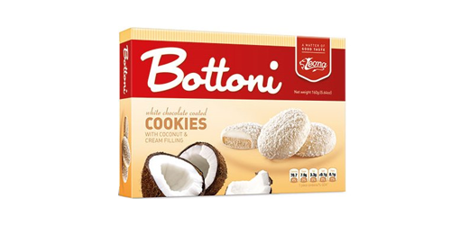 Biscuits Bottoni Coconut produced by Lion