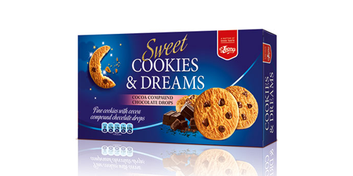 Biscuits Cookies & Dreams  Milk Chocolate produced by Lion