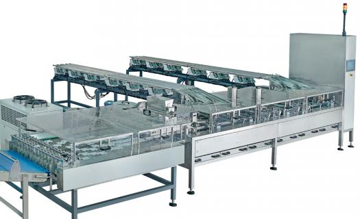 High speed 4 lane automatic biscuit sandwiching  system