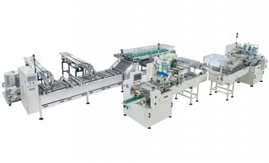 Sandwiching Automatic On Edge Packaging Line