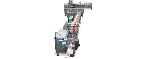 Equipment Automatic Packaging Line for Crackers on Edge produced by IMA FLX HUB