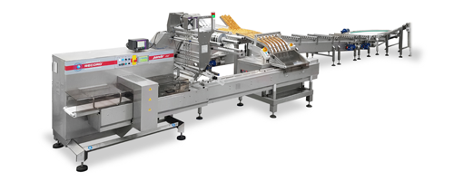 Equipment Packaging Line for Biscuits in Pile produced by IMA FLX HUB