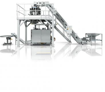 Equipment Turn-key dosing, vertical bagging and cartoning solution for naked or pre-wrapped biscuits produced by IMA FLX HUB