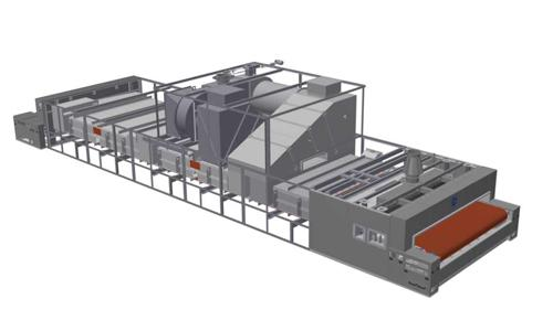 Cyclothermic tunnel oven