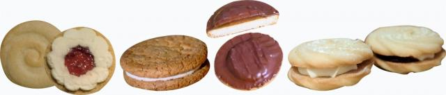 FIG 4. Biscuit creams and deposited Jaffa cake