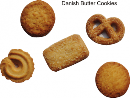 The biscuits-danish butter cookies