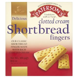 Paterson's Clotted Cream Shortbread Fingers 300 g